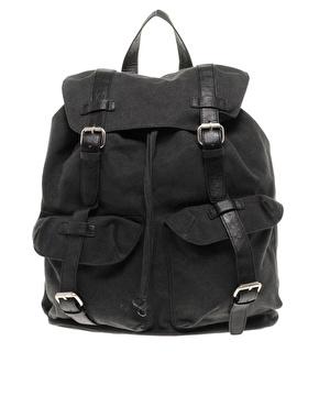 Asos Black Canvas Backpack