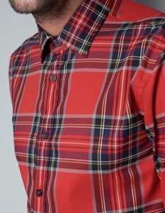 Red Tartan Shirt - Nice Office Wear