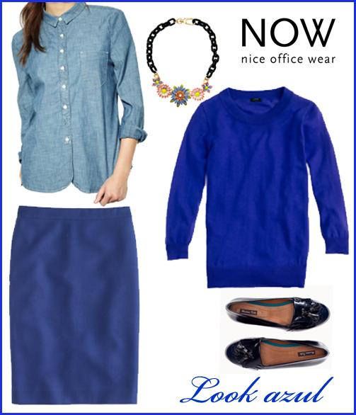 Look Azul Mujer - Tendencias otoño-invierno 2012 - Cool Casual Business