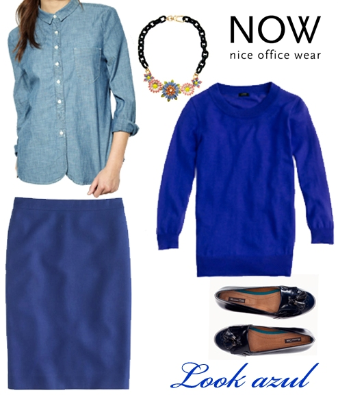 Look Azul Mujer - Tendencias otoño-invierno 2012 - Cool Casual Bussiness