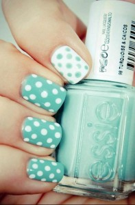 Manicura topos polka dots - Nice Office Wear