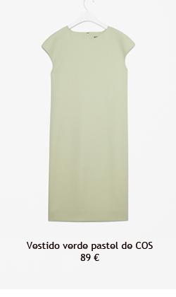 Vestido verde pastel de COS