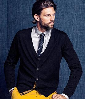 Cardigan de merino H&M para el look de oficina Casual Business