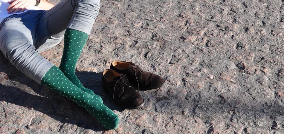 Calcetines Sockaholic - Topos verdes