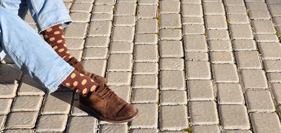 calcetines sockaholic - topos marrones